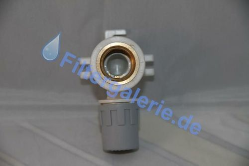 "Wandscheibe IG safety-pol, Gewinde Messing F1/2""-sm20"